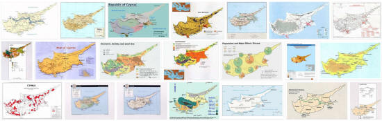 Maps of Cyprus