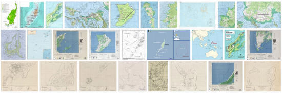 Maps of Palau Islands